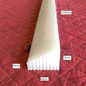 Honeycomb 60x55x20x1220mm White Flat