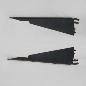 Brackets Shelf, Kysor Warren, 410mm, Powdercoated Black