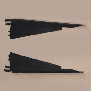 Brackets Shelf, Kysor Warren, 560mm, Powdercoated Black