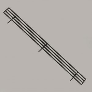 Product Stop Fence, Hussmann, 930mm x 70mm, 3 Prong, Powdercoated Black