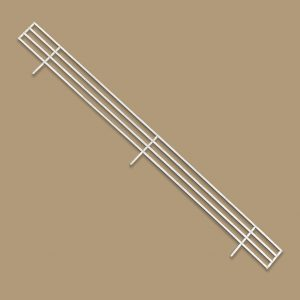Product Stop, Fence, Hussmann, 930mm x 70mm, 3 Prong, Powdercoated White